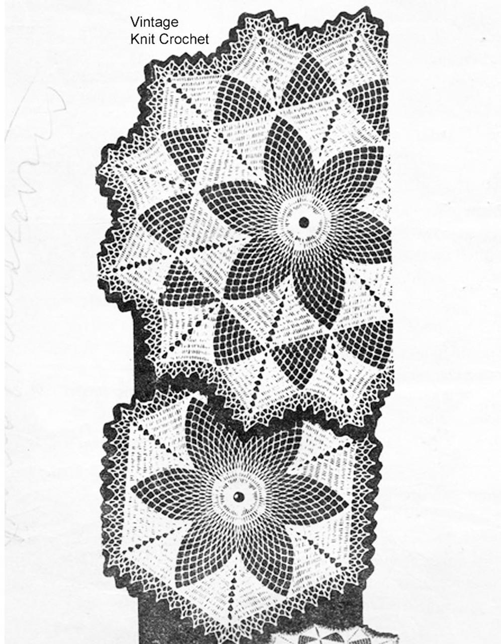 Small flower crochet doily pattern, Alice Brooks 7115