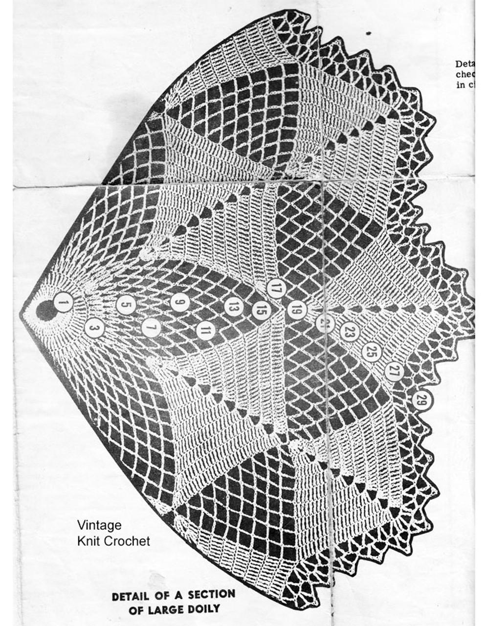 Large Doily Pattern Illustration Mail Order 7115