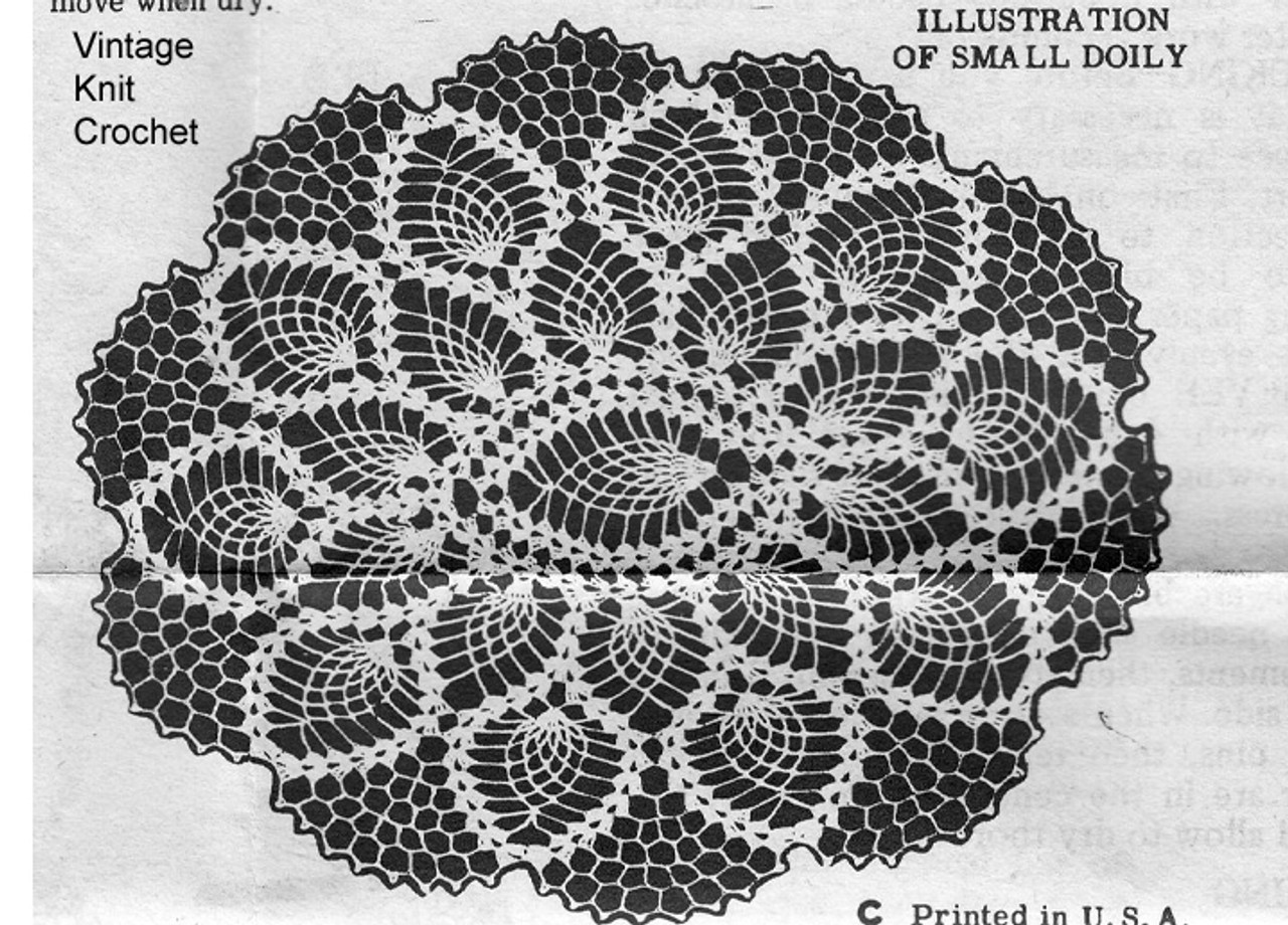 Crochet Illustration of small pineapple doily
