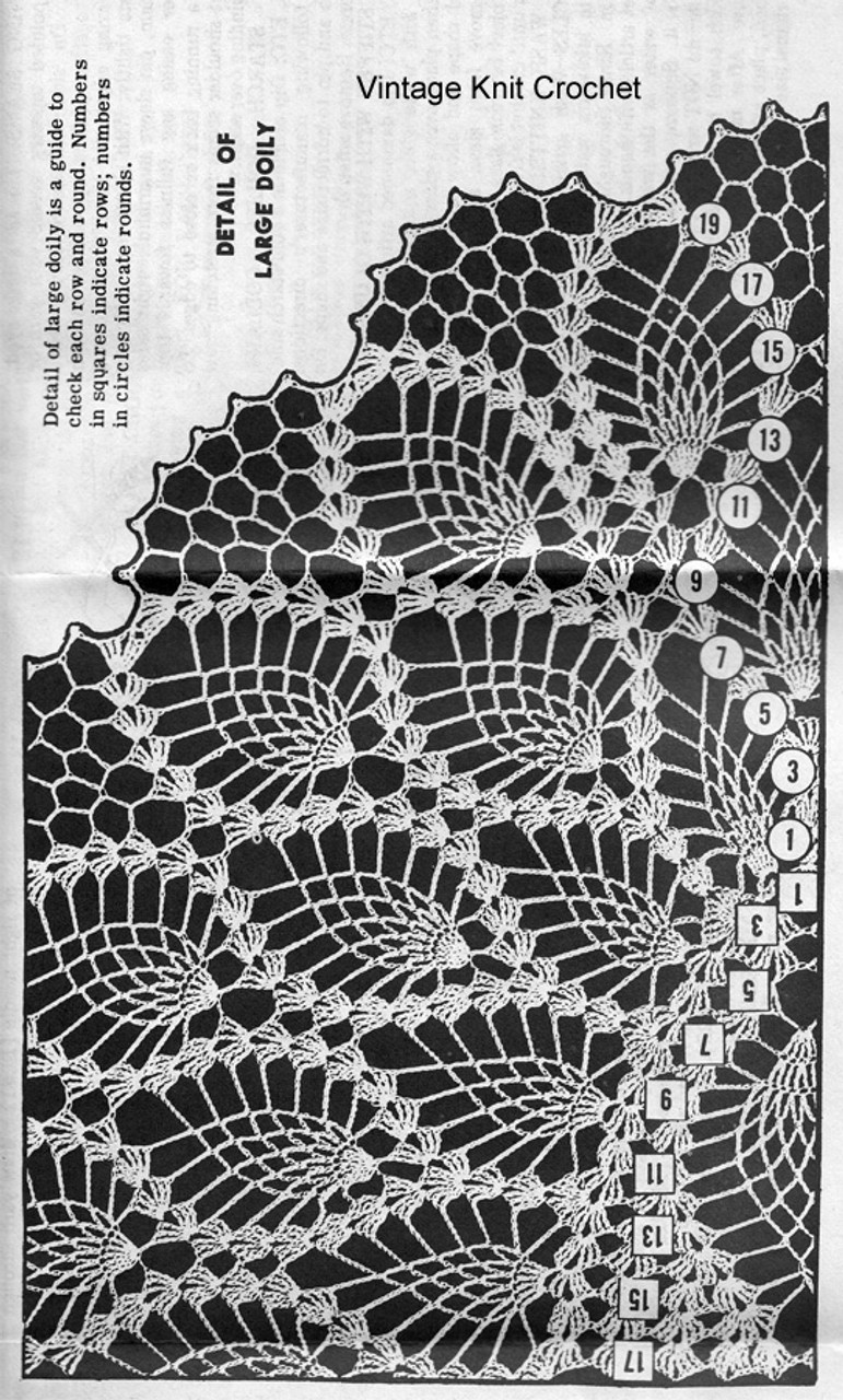 Pineapple Doily pattern stitch illustration, Alice Brooks 7336