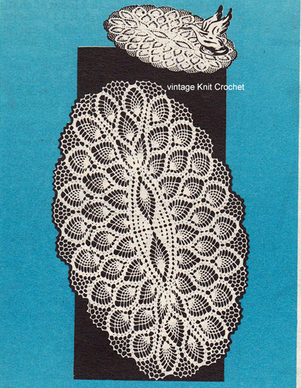 Mail Order 7336, Crochet Oval Pineapple Doily Pattern