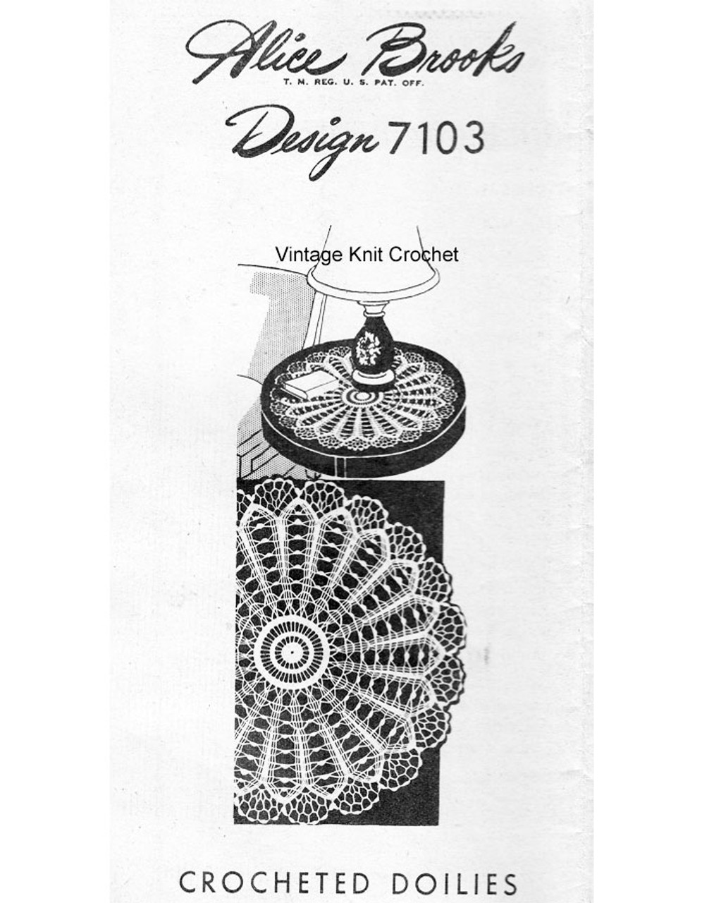 Wheel Doily Crochet Pattern, Alice Brooks 7103
