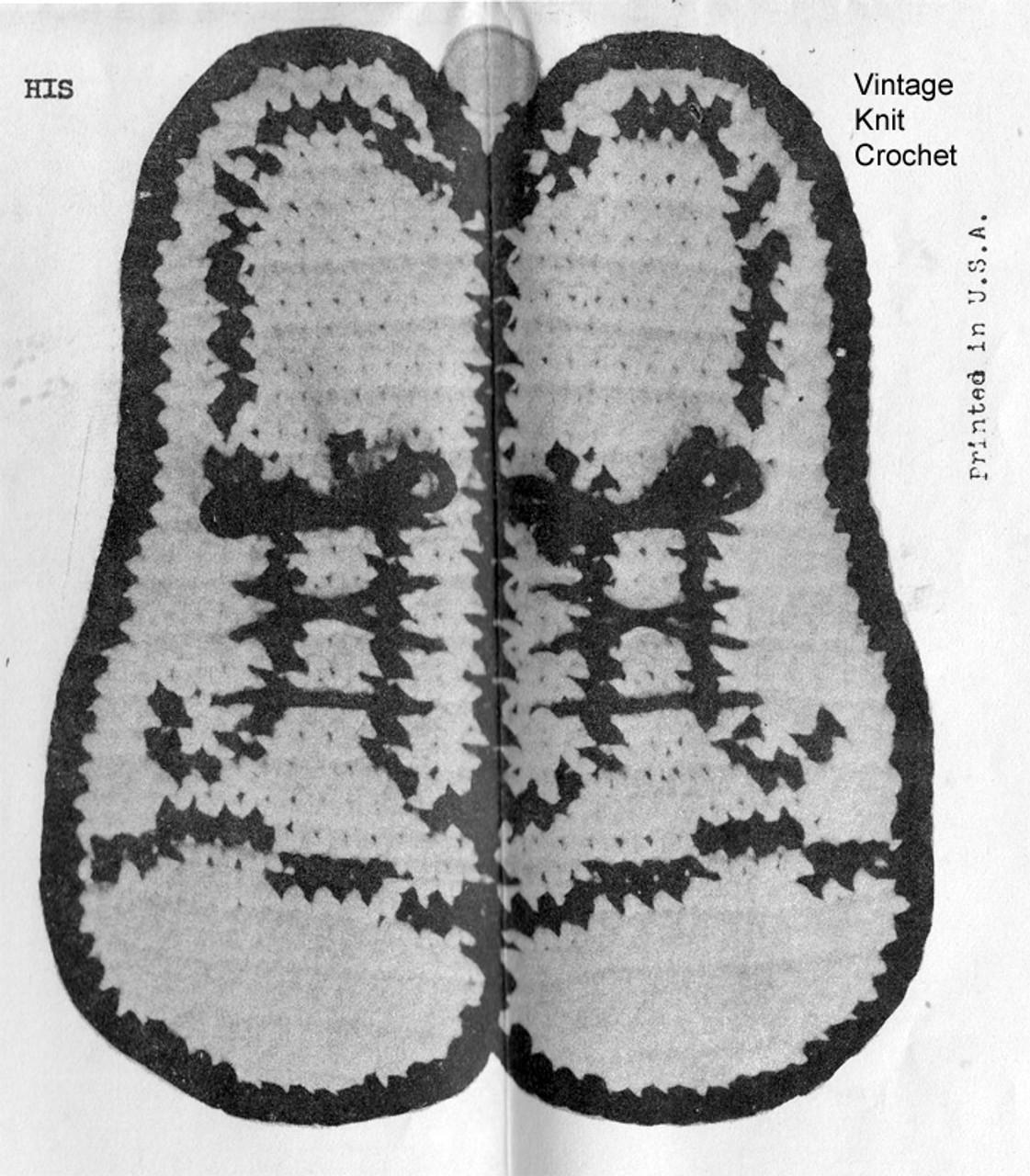 Crochet Shoe Potholders Pattern - His