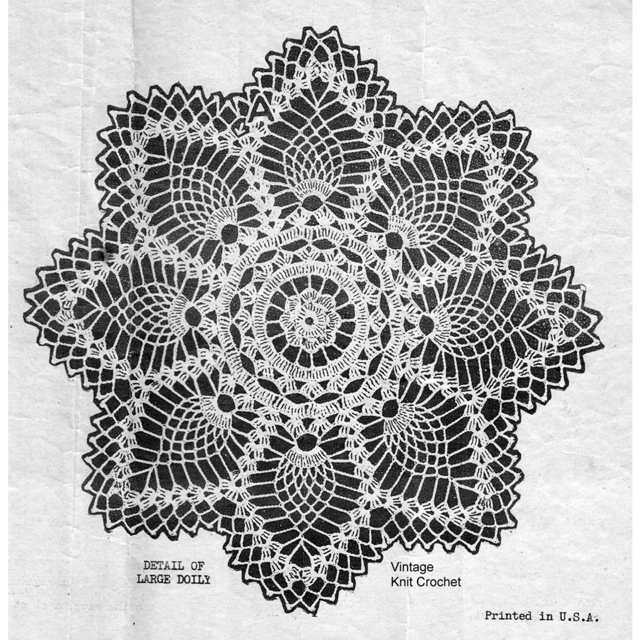 Pineapple Doily pattern Stitch Detail, Design 7389