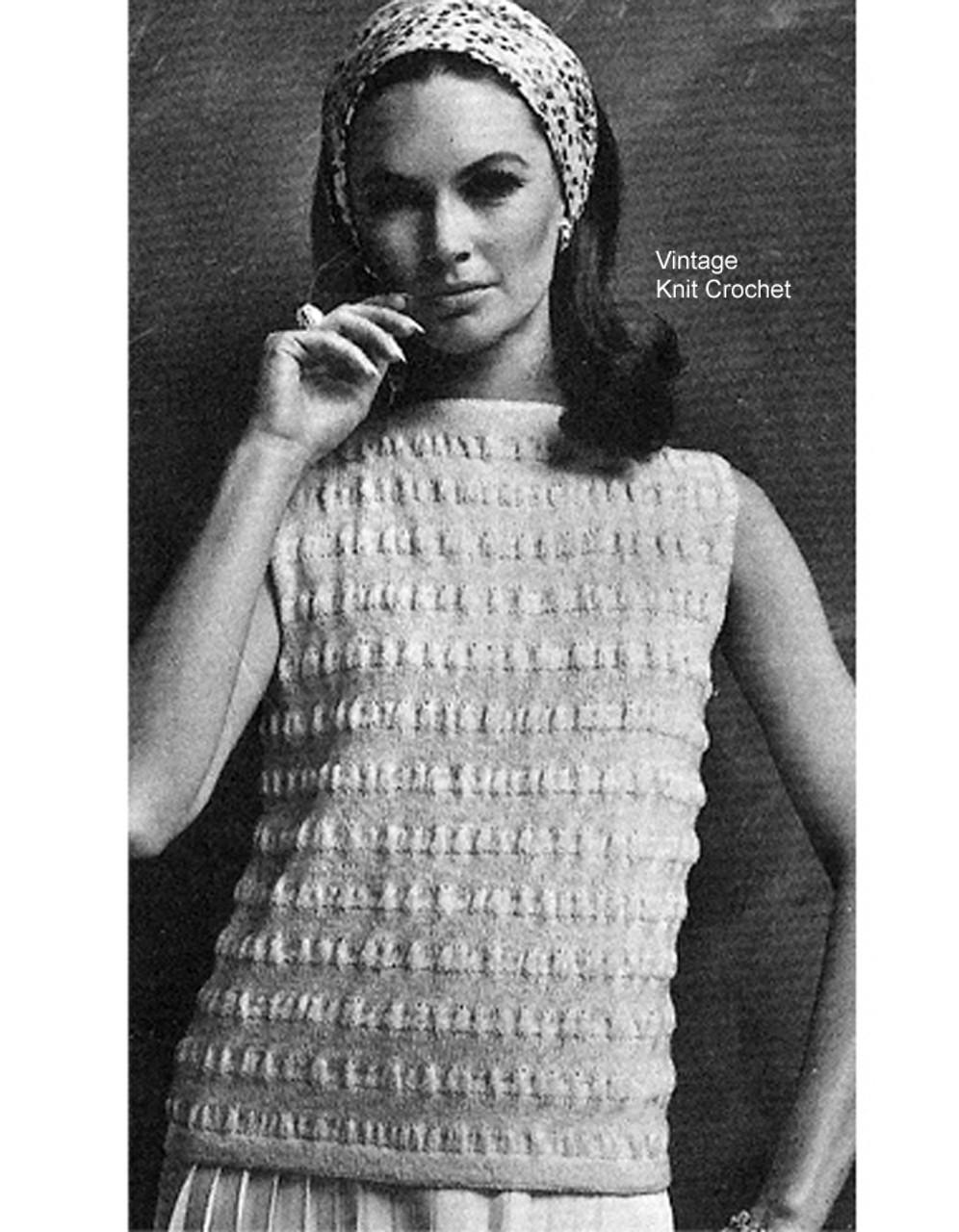 Textured Stripe Top Knitting Pattern