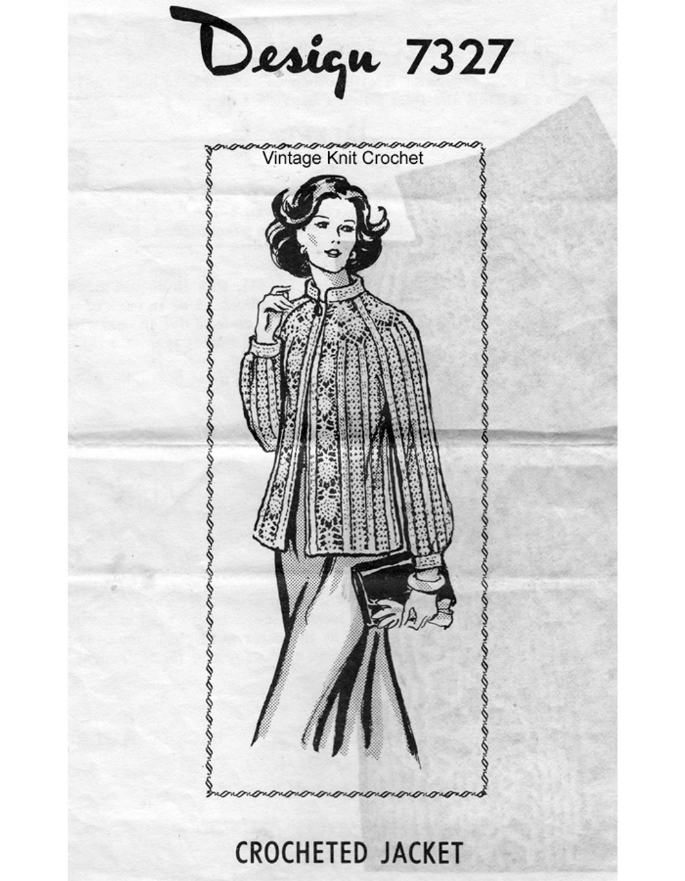 Pineapple Cardigan Crochet Pattern, Mail Order 7327