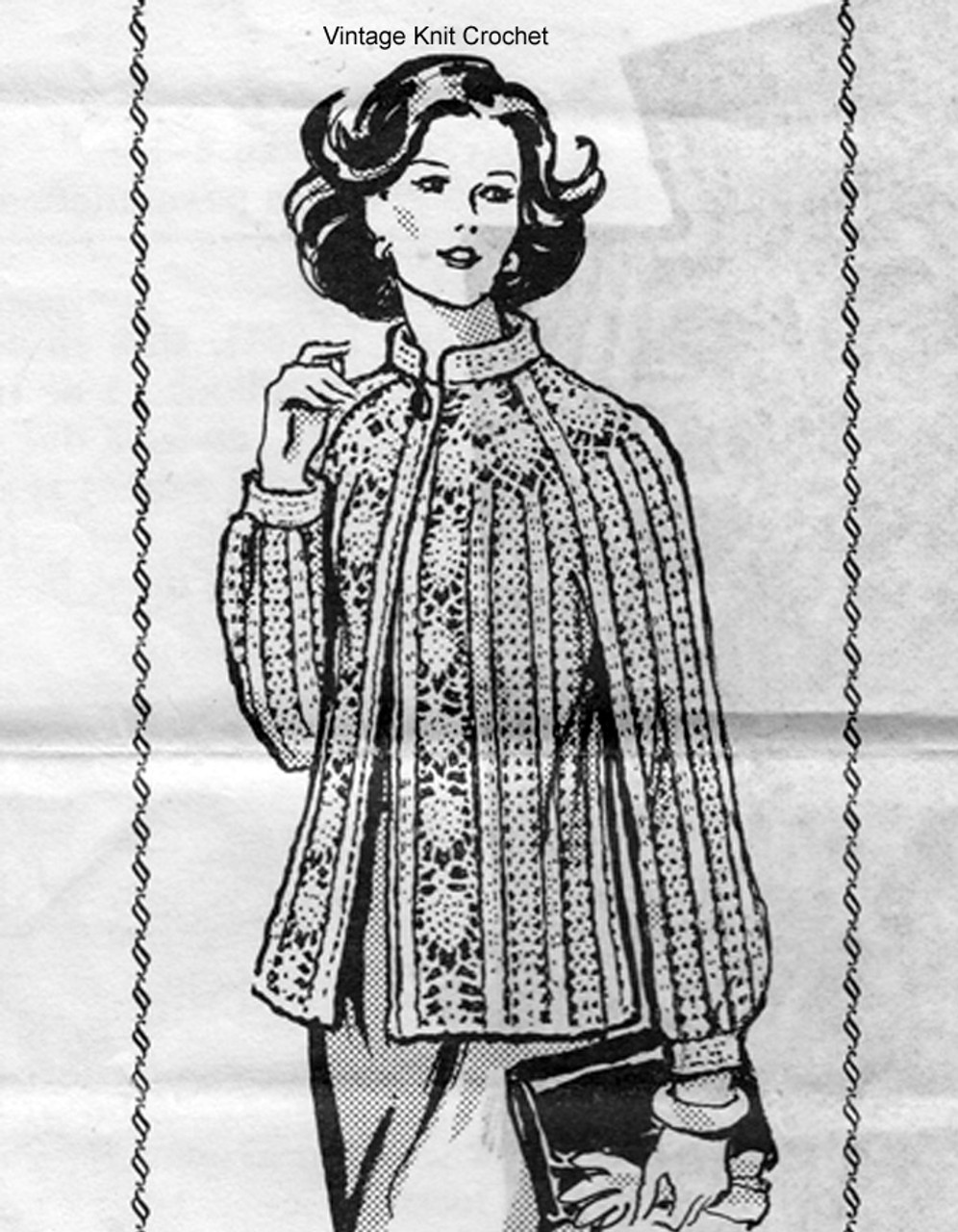 Mail Order Pineapple Crocheted Jacket Pattern, Laura Wheeler 7327