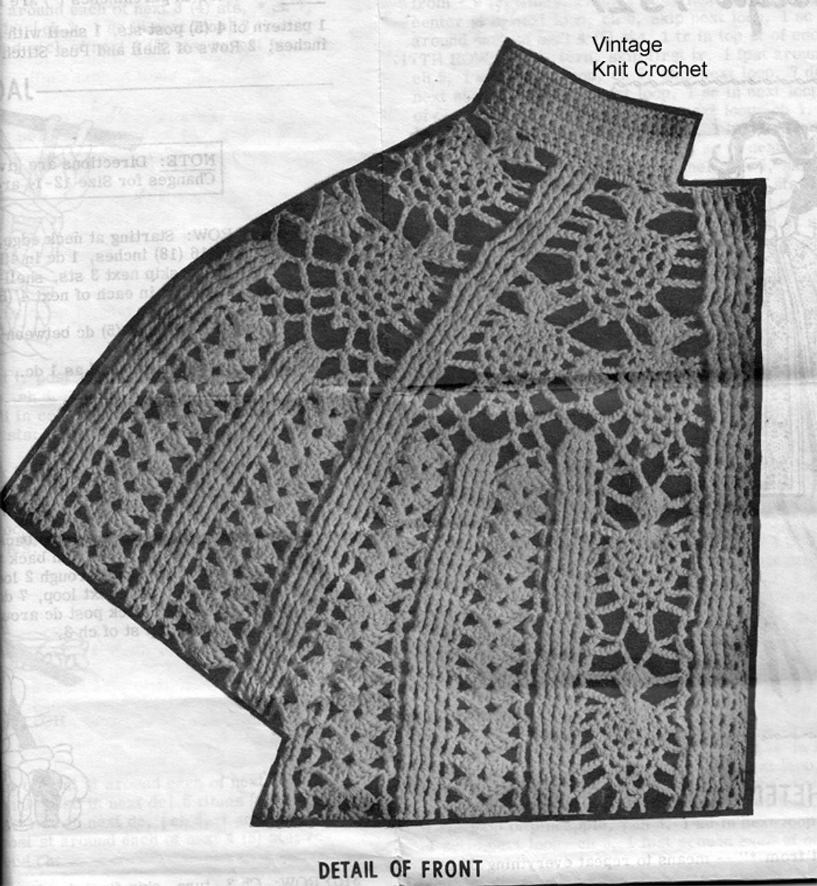 Pineapple Jacket Pattern Stitch Detail