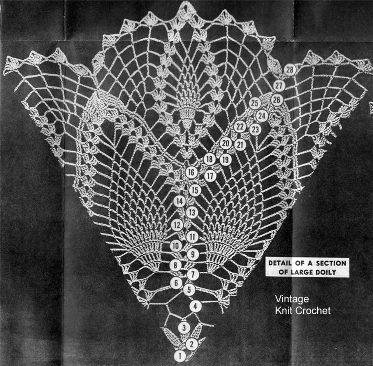 Large Doily Pattern Stitch Illustration