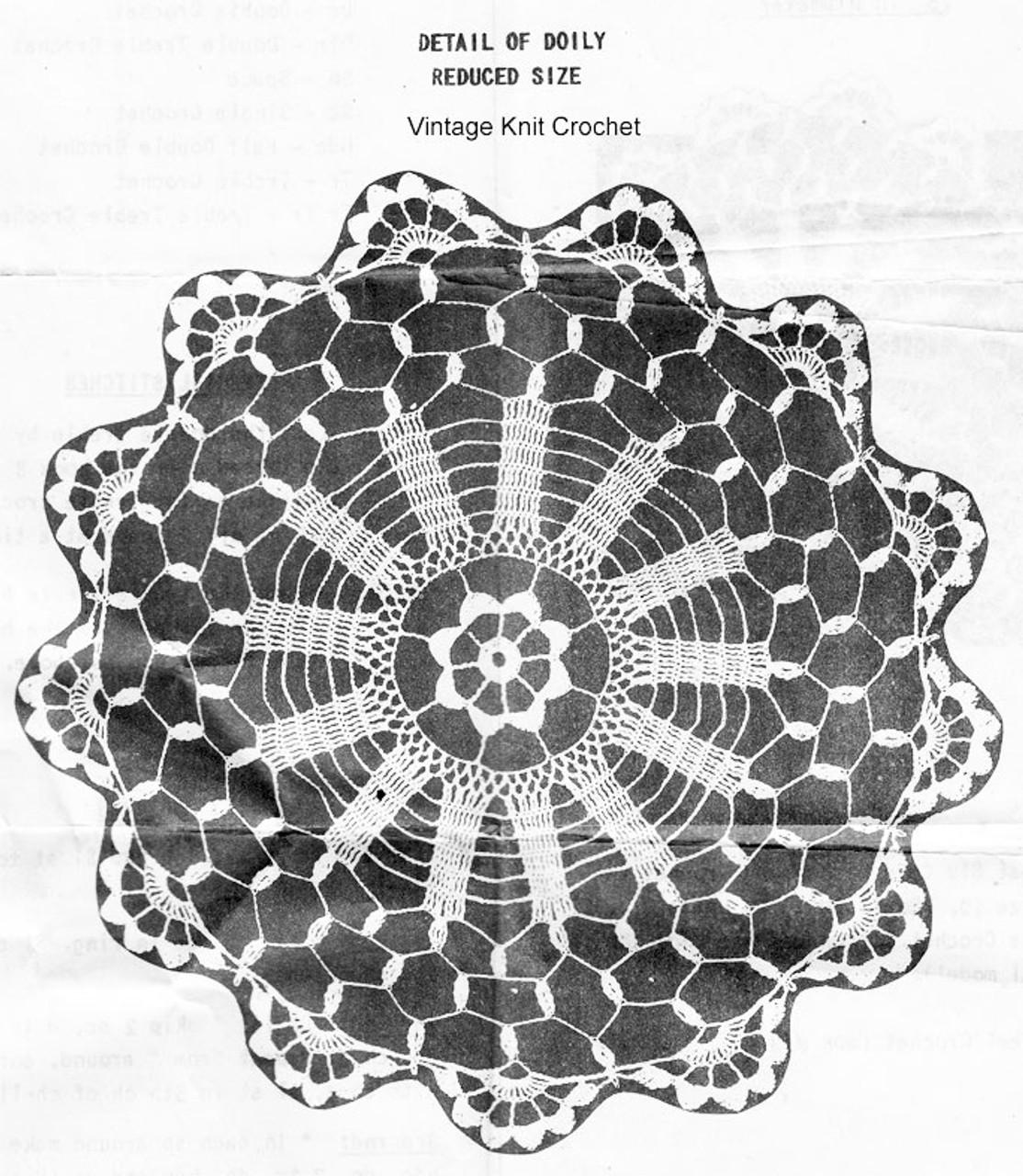 Wheel Doily Crochet Pattern, Peggy Roberts R-2557