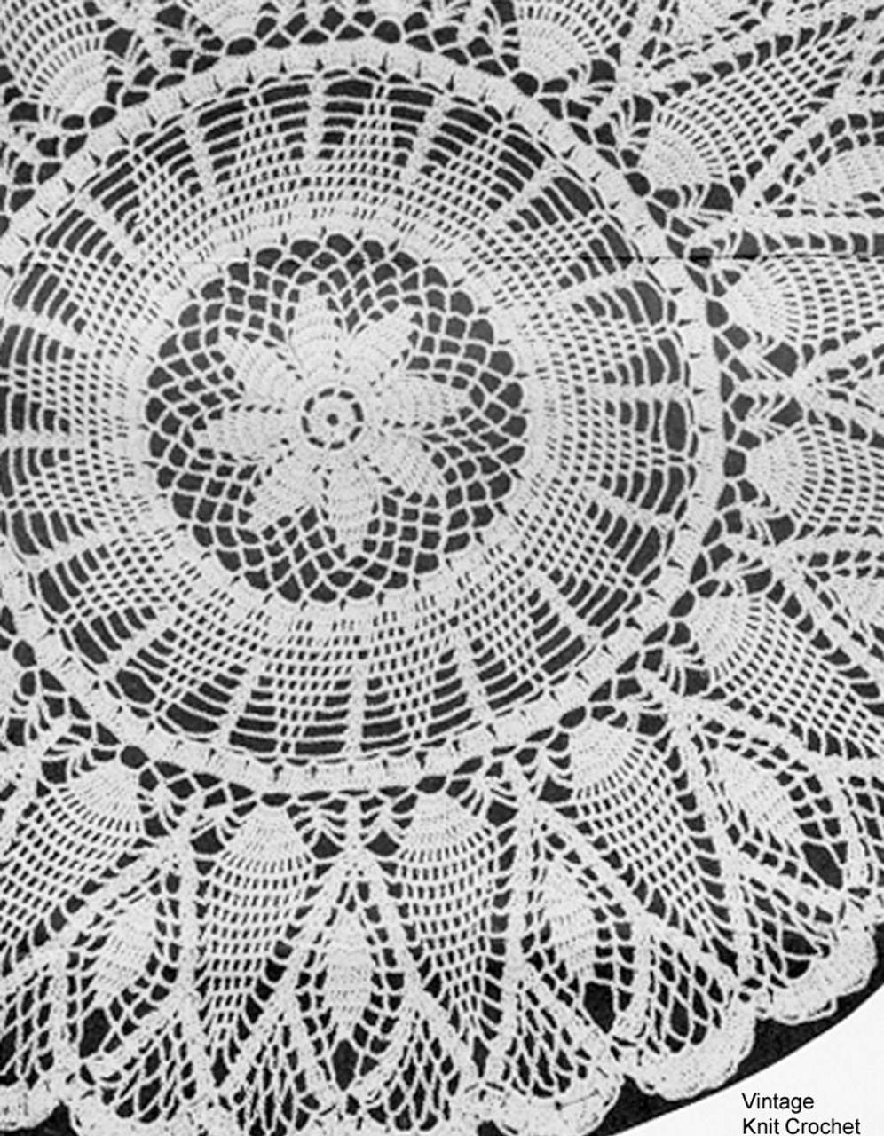 Mail Order Pineapple Flower Doily Pattern No 1151