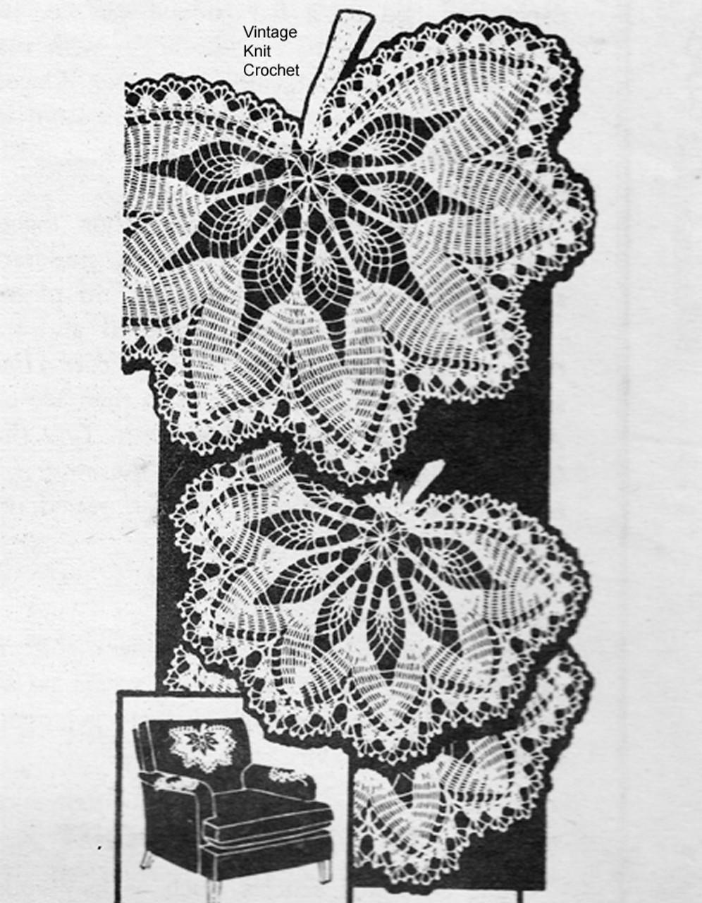 Mail Order Leaf Crochet Doily Pattern Laura Wheeler 860