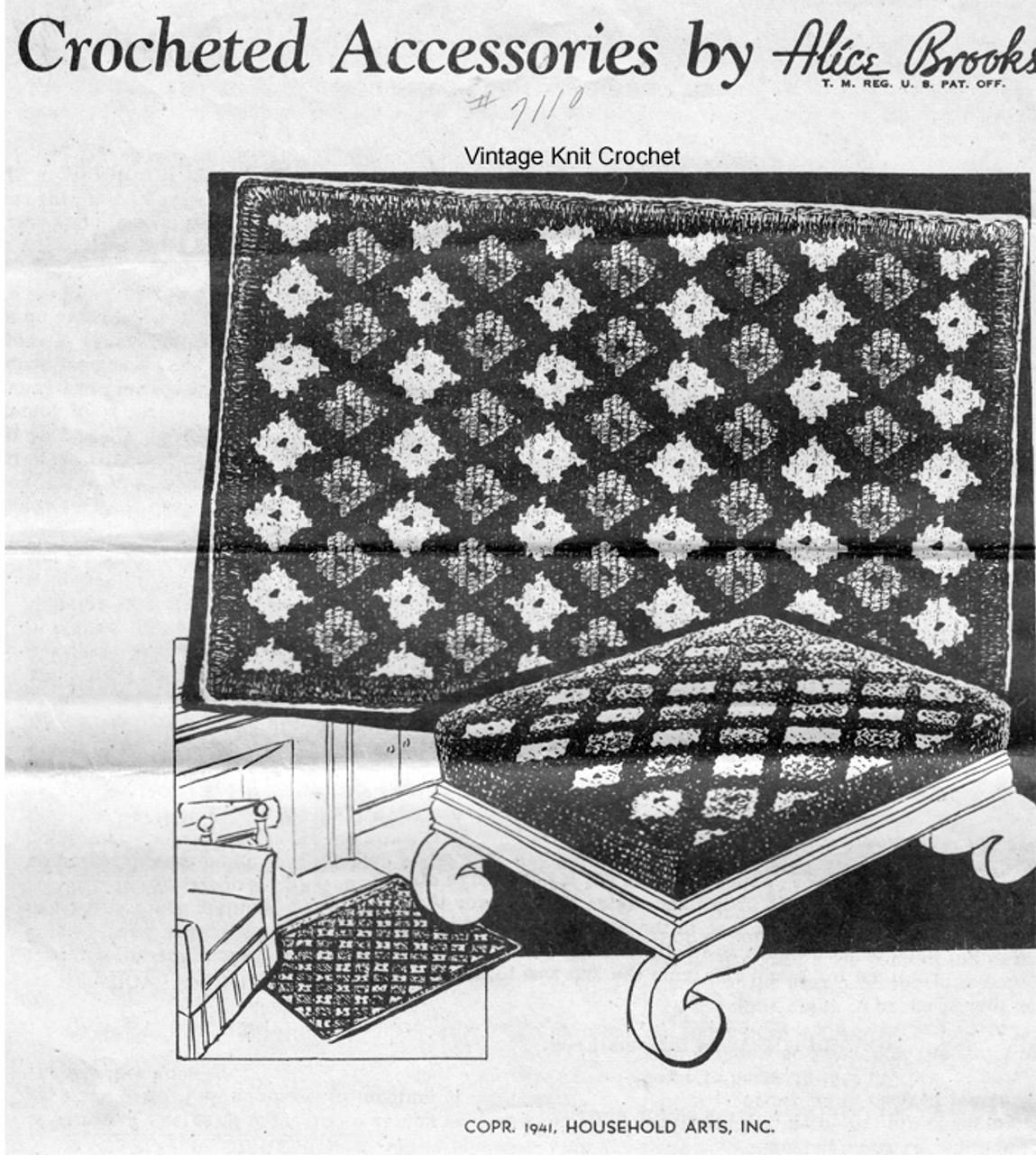 Large Rug Crochet Pattern, Mail Order 7110