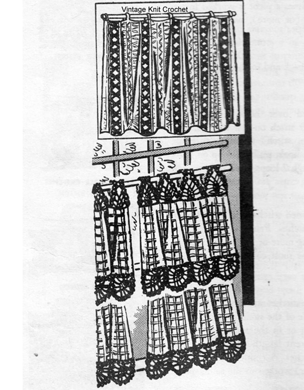 Vintage Cafe Crochet Curtains Pattern, Alice Brooks 7018