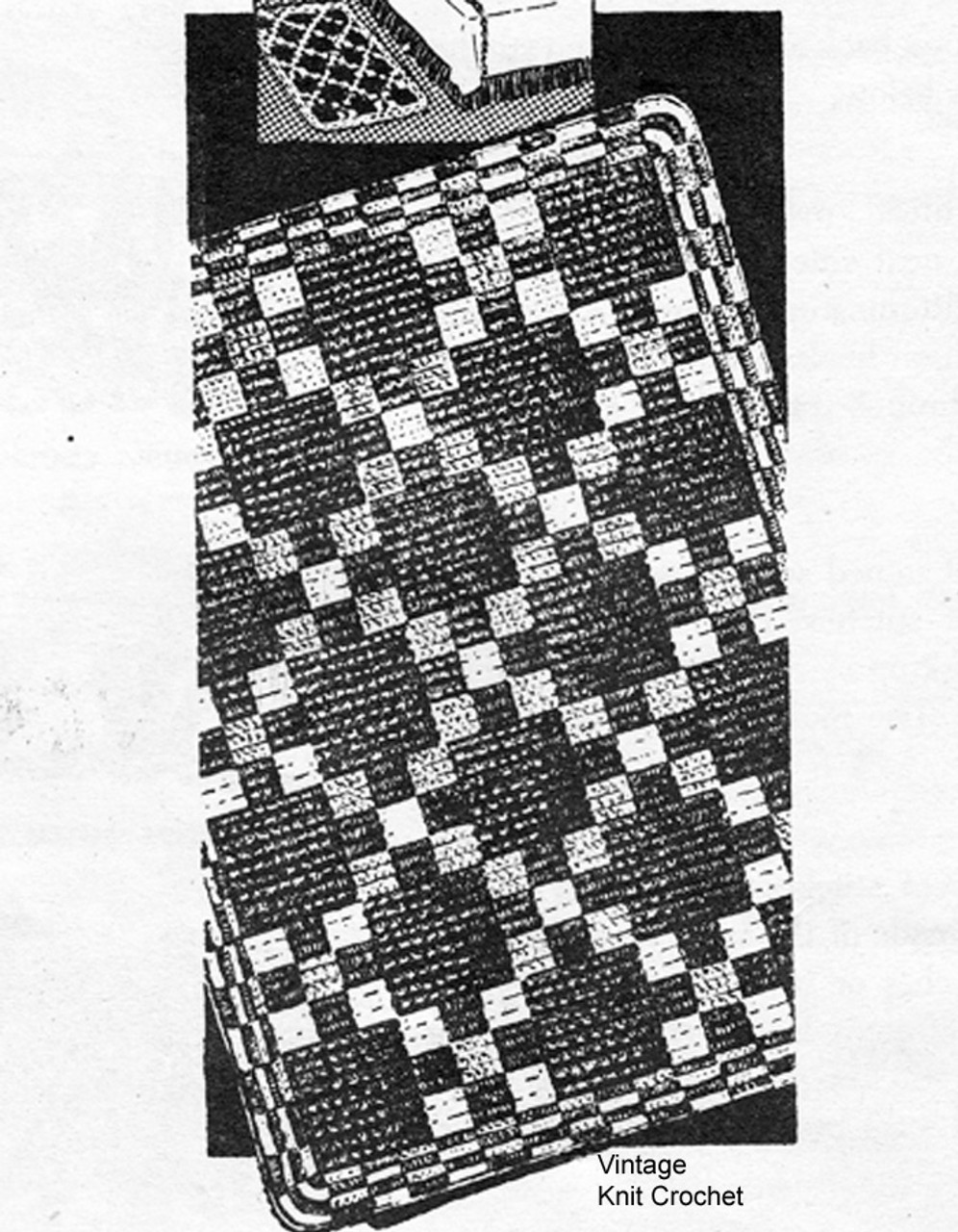 Oblong Rug Crochet Pattern, Alice Brooks 7277