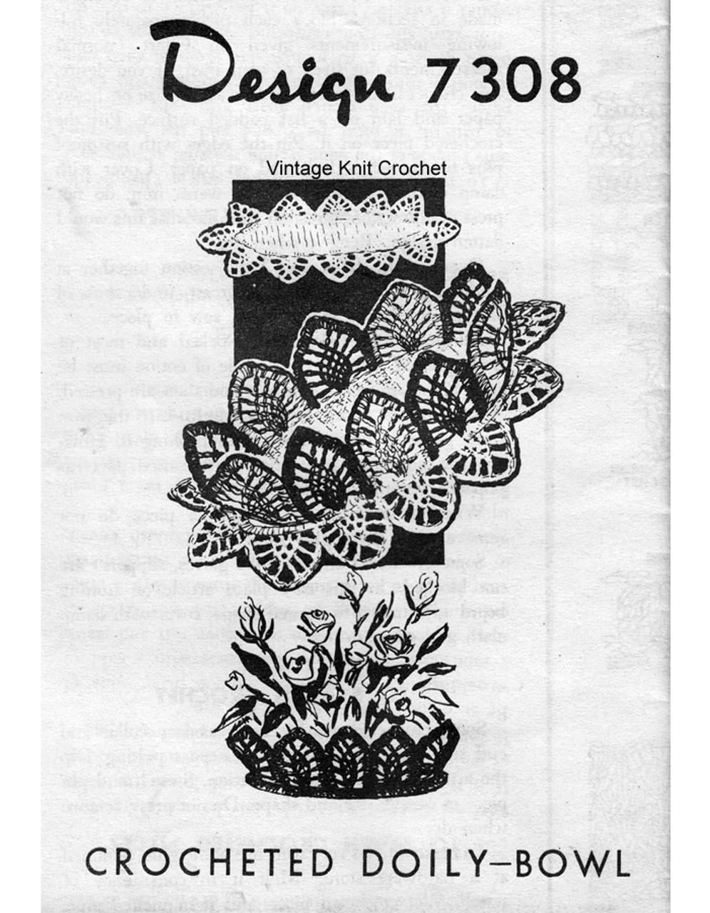 Crochet Pineapple Bowl Pattern, Mail Order 7308
