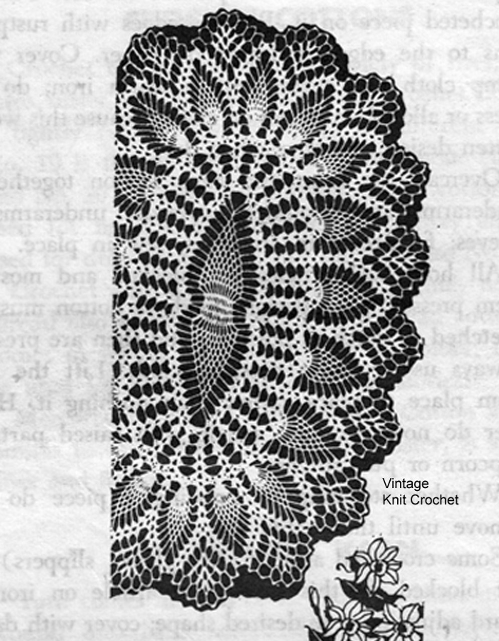 Large Mail Order Pineapple Doilies pattern, Design 7026
