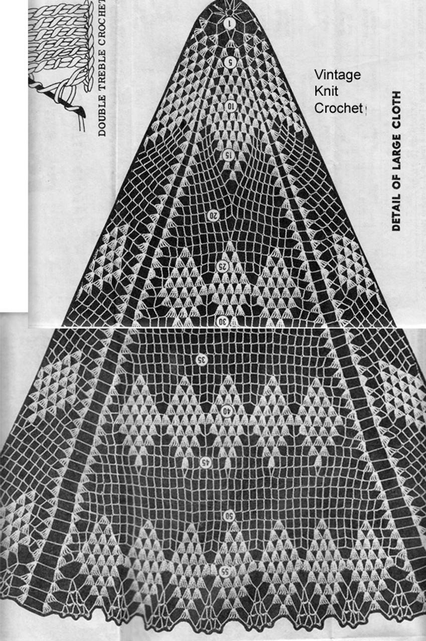 Diamond Cloth Crochet Pattern Stitch Illustration, Alice Brooks 7150