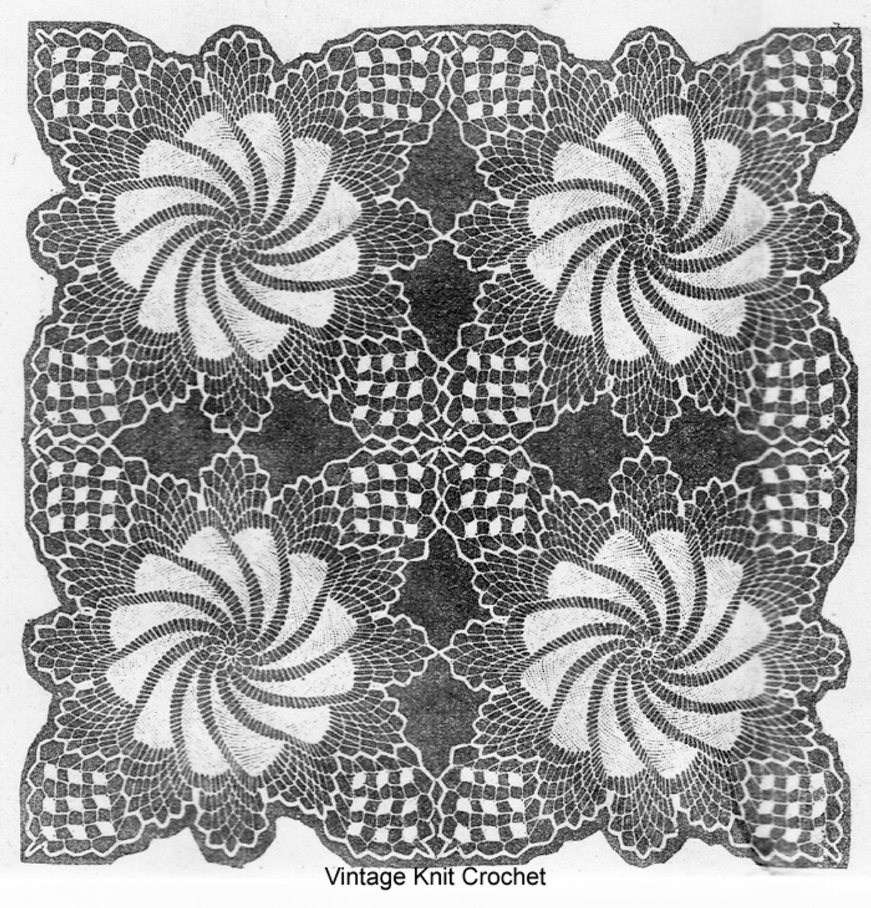 Pinwheel Tablecloth Crochet Pattern Illustration Design 532