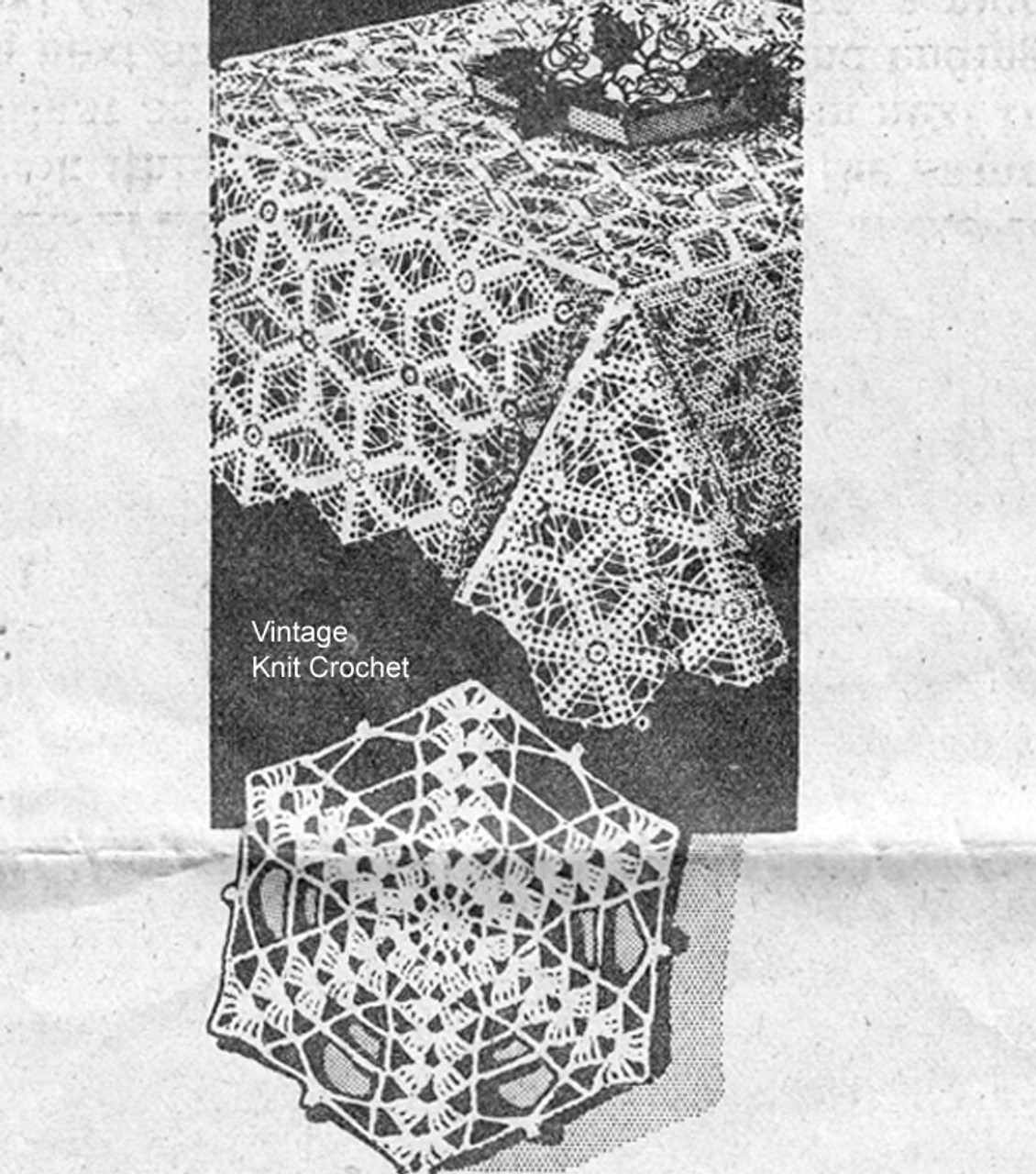 Mail Order Medallion Tablecloth Pattern, Mail Order 7353