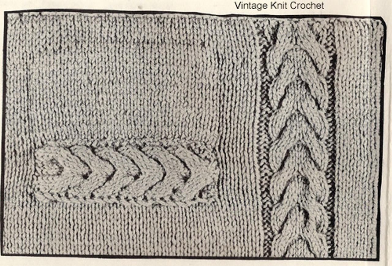 Cable Jacket Knitting Pattern Stitch Illustration