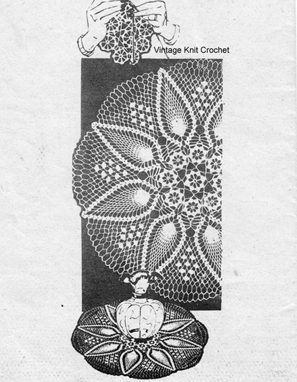 Centerpiece Crochet Pineapple Doily pattern, Laura Wheeler 939