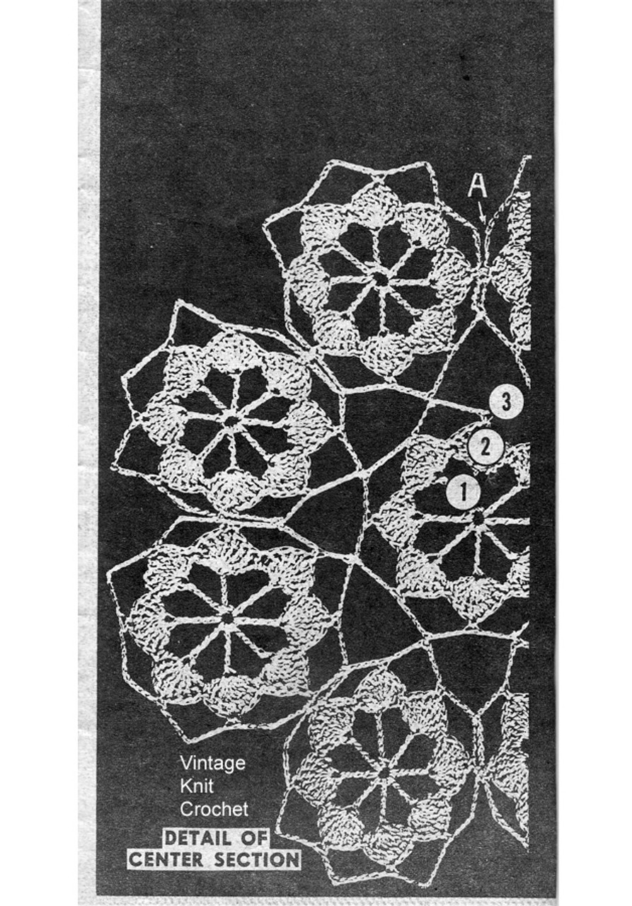 Illustration of Crochet Doily Medallion Center, Mail Order 939