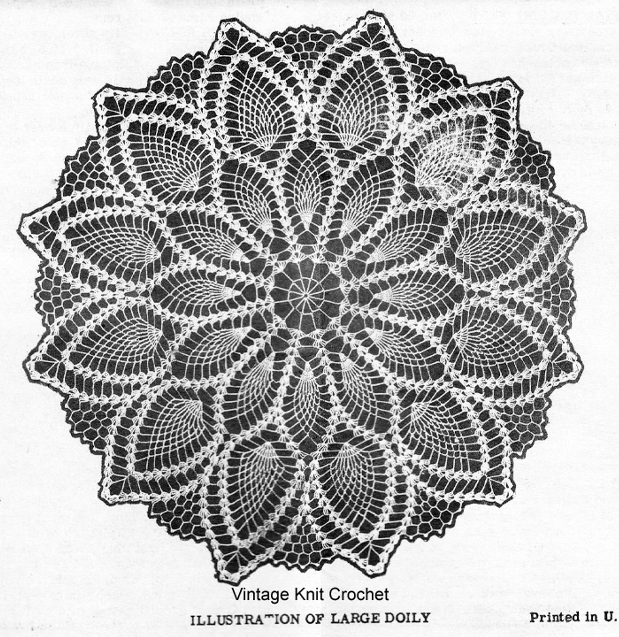 Medium Pineapple Doily Pattern Detail, Laura Wheeler 899