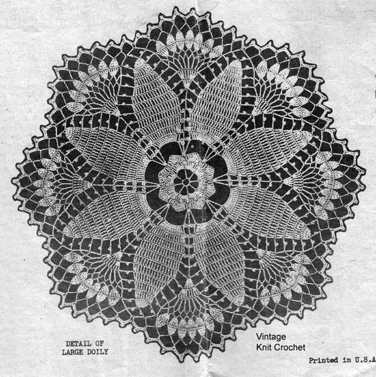 Crochet Flower Doily Illustration, Laura Wheeler 899