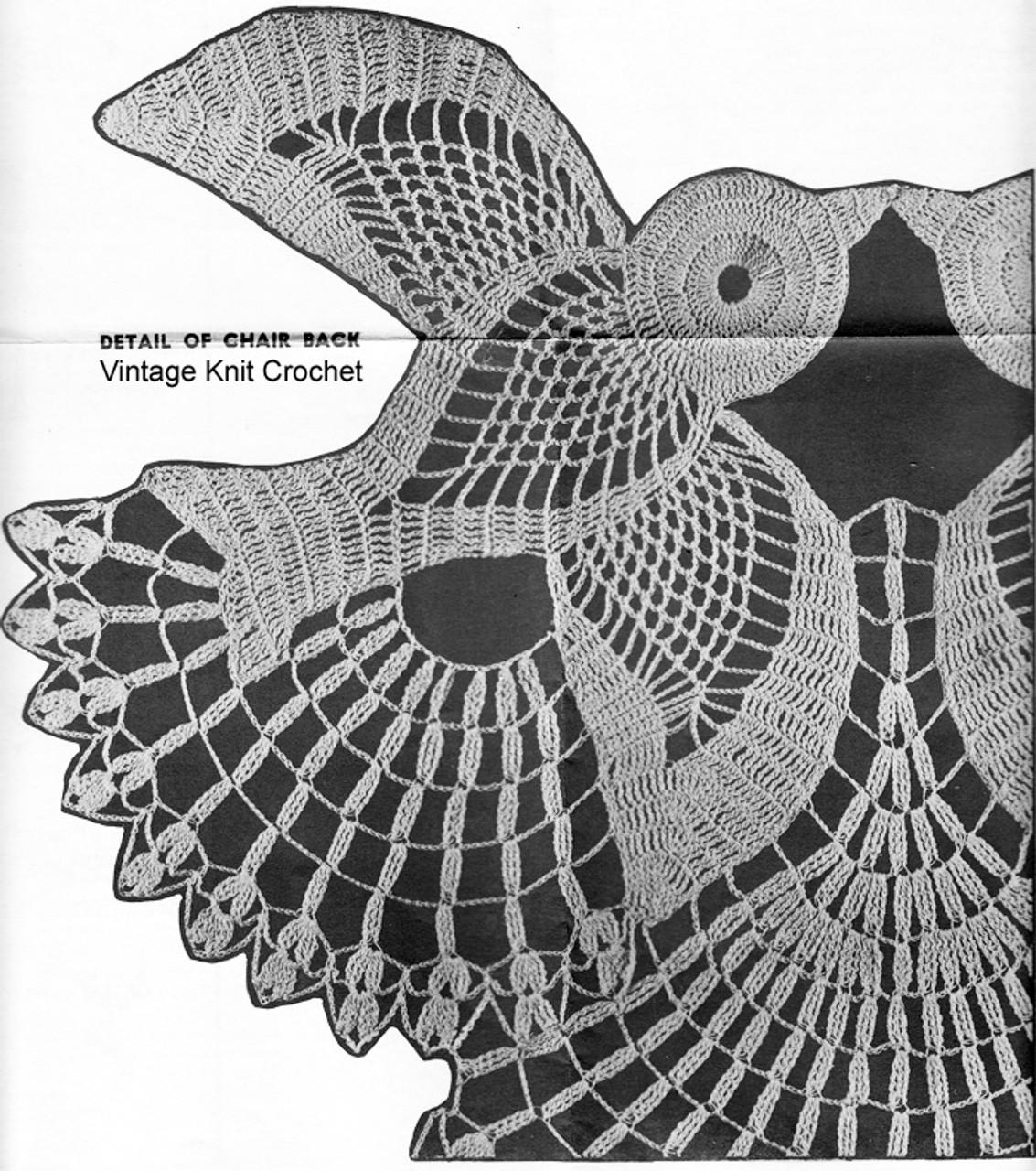 Crochet Birds Pattern Stitch Illustration, Alice Brooks 7290