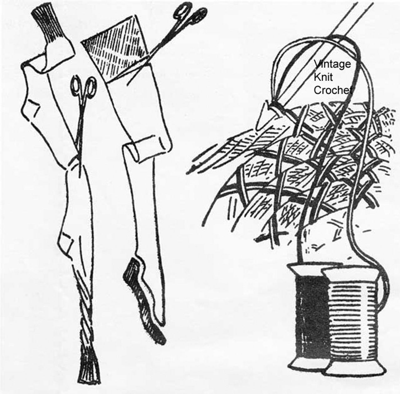 Crochet Materials Illustration for Rag Rug Pattern