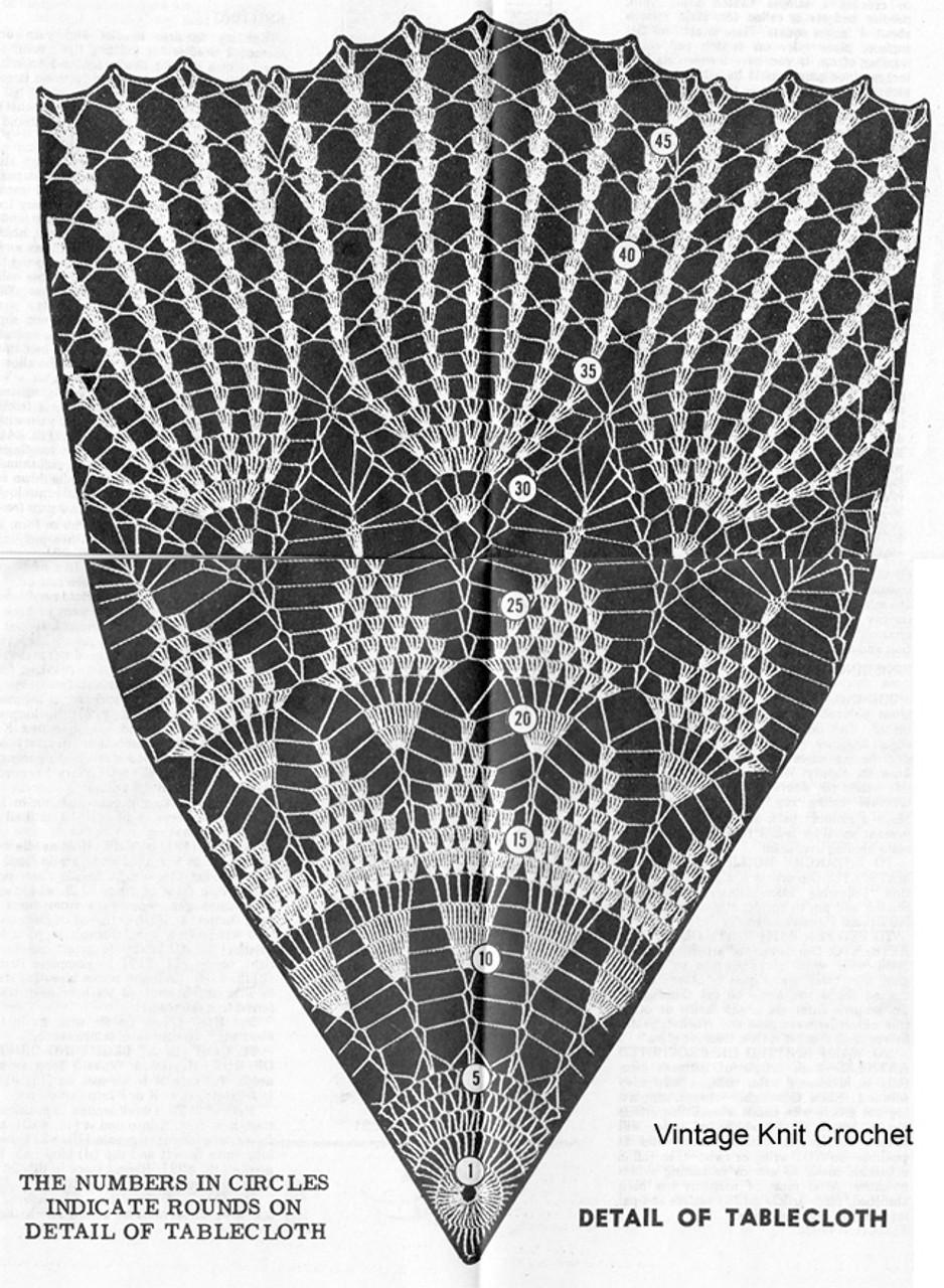 Pineapple Cloth Pattern Stitch Illustration, Alice Brooks 7589