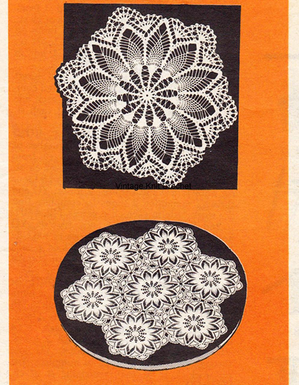 Crochet Medallion Doily Pattern, Alice Brooks 7587