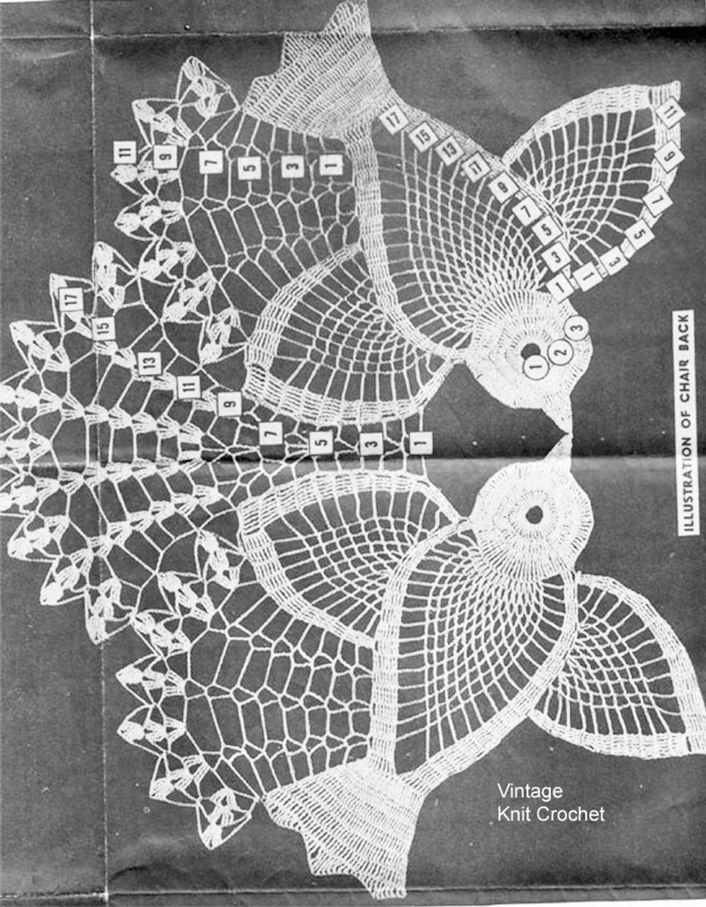 Crochet Birds Pattern Stitch Illustration, Alice Brooks 7188