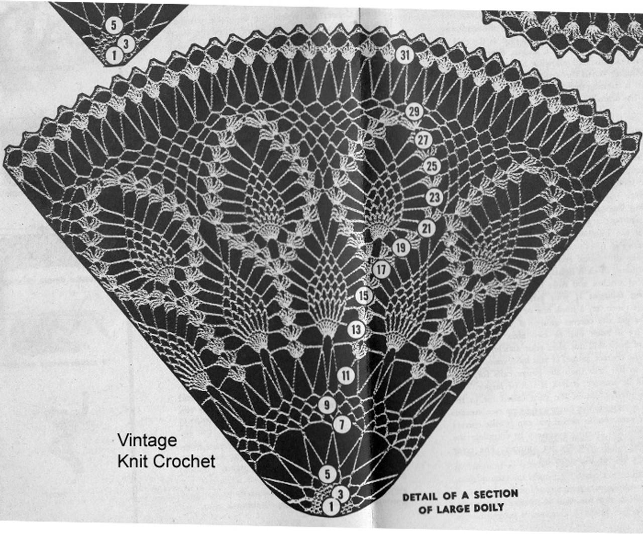 Design 7240 Large Doily Pattern Stitch Illustration