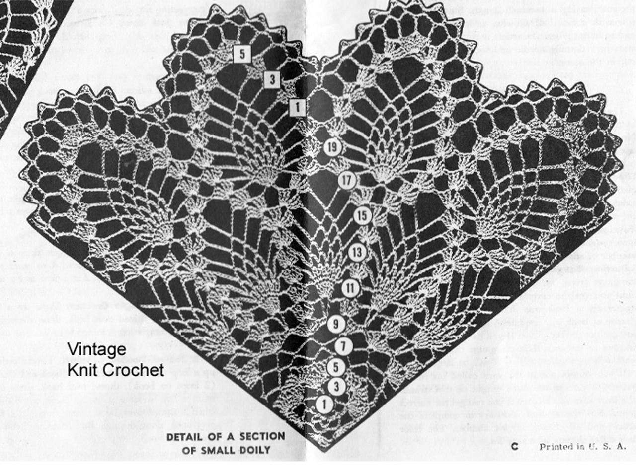 Small Pineapple Doily Illustration, Mail Order 3101