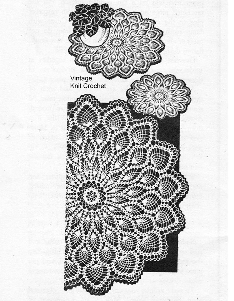 Mail Order Crochet Pineapple Doilies Pattern, Design 3101