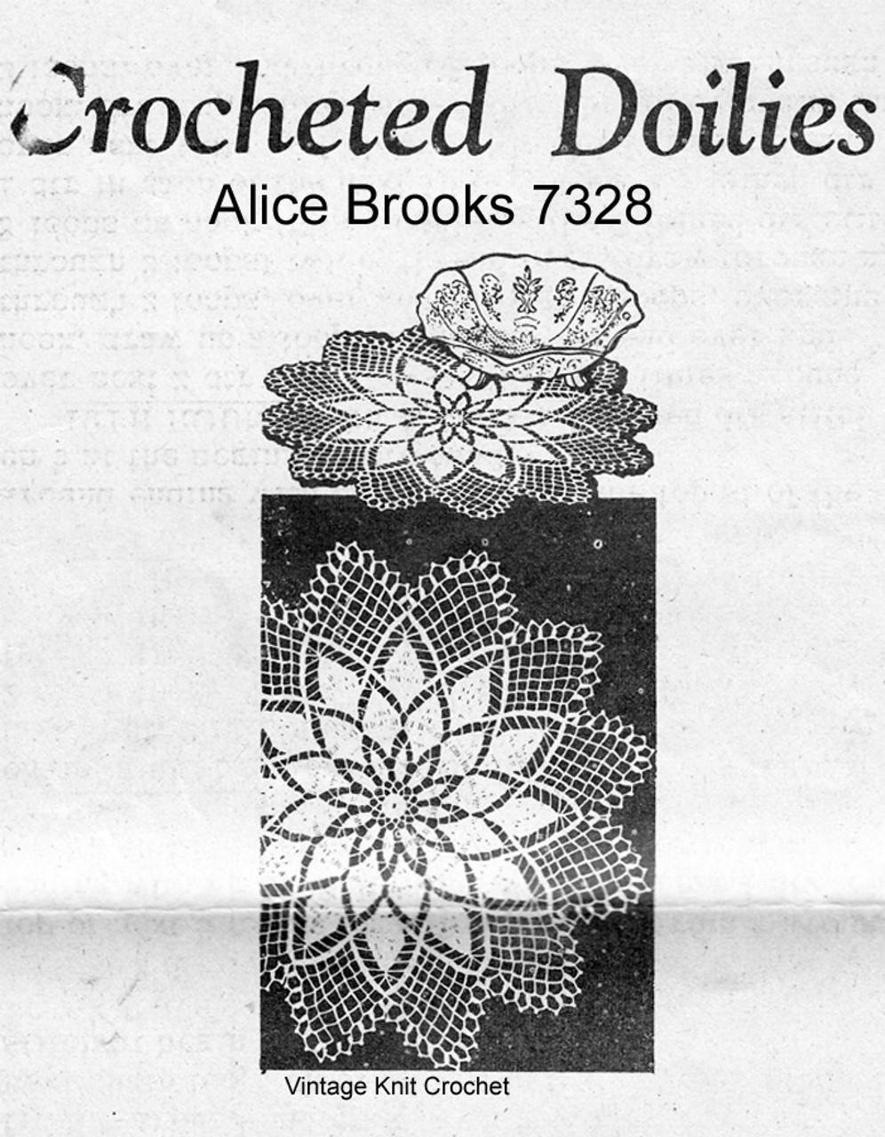 Crochet Mum Doily pattern, Mail order 7328