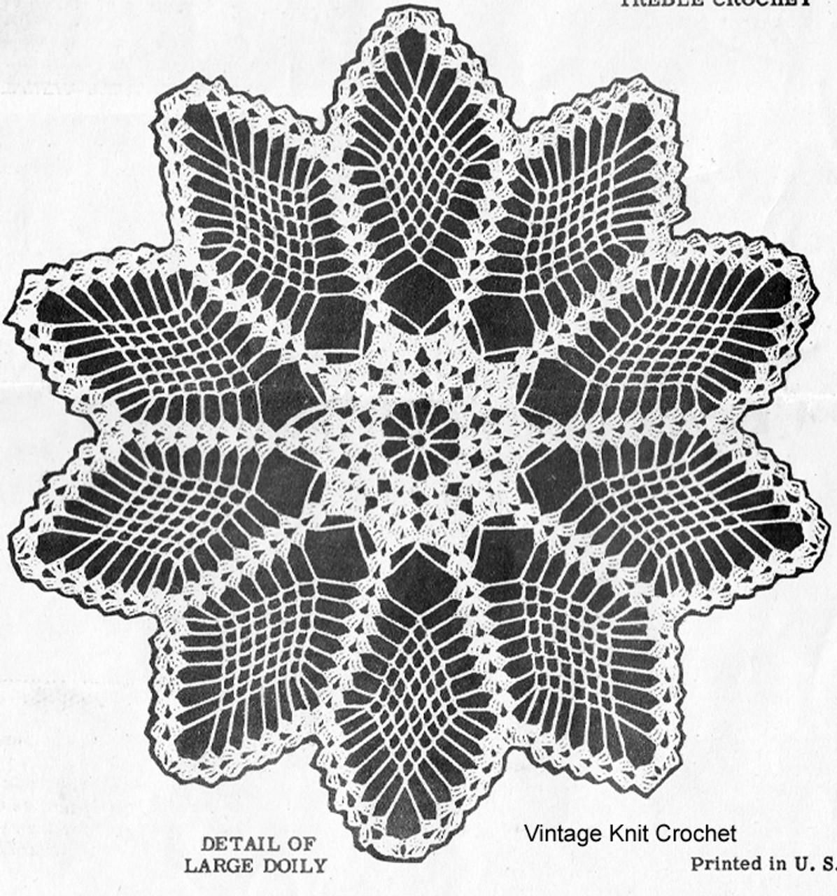 Design 7490 Crochet Doily Illustration