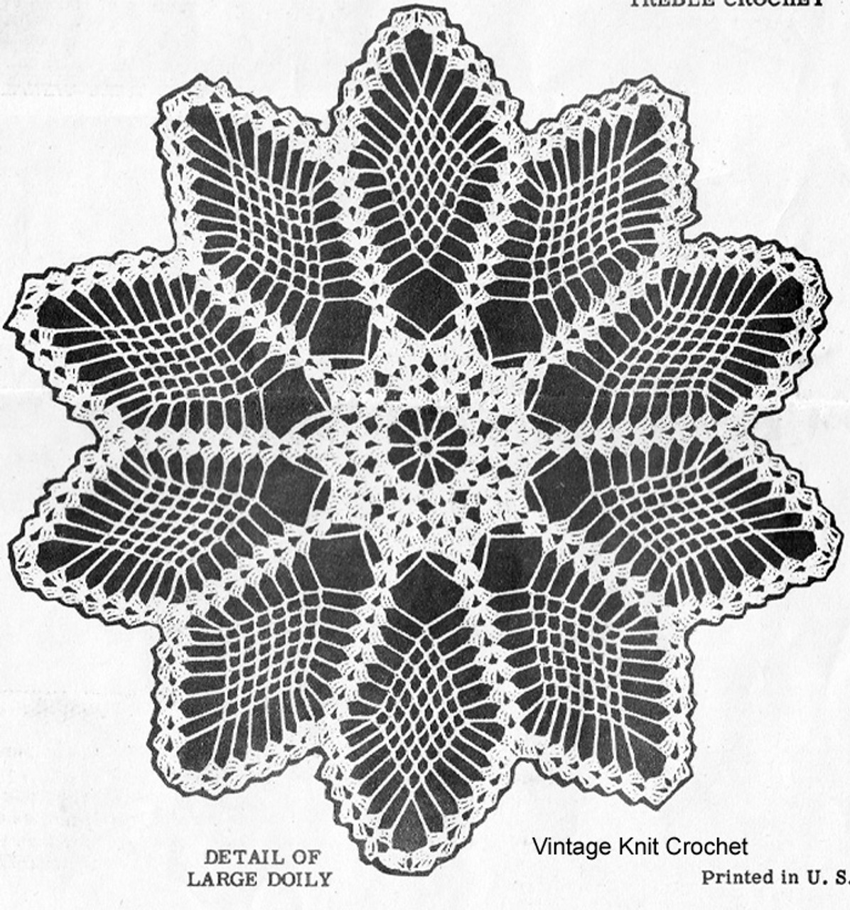 Design 7490 Crochet Doily Illustration