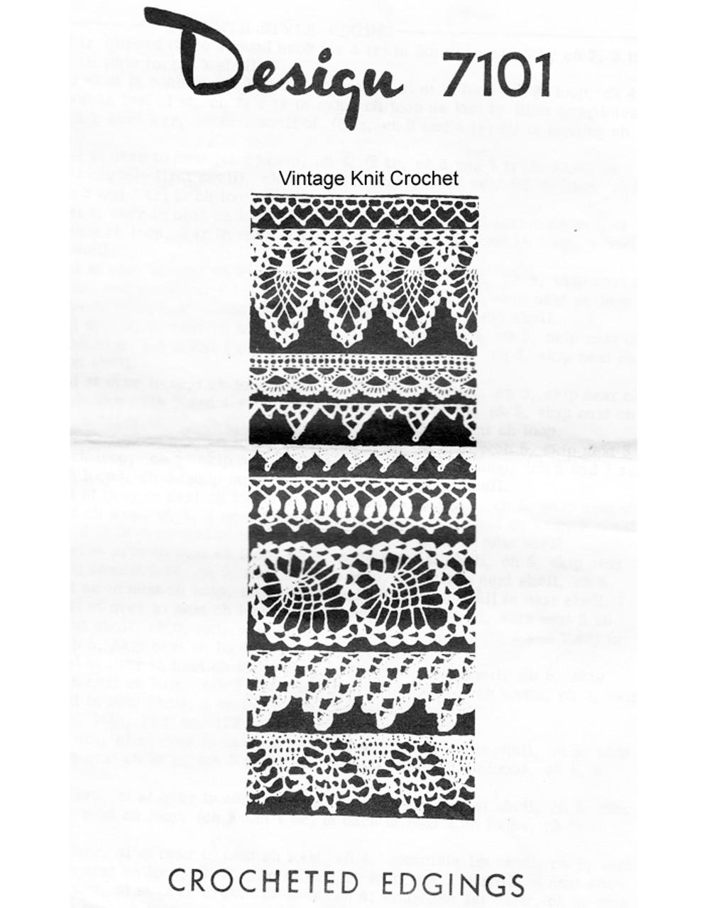 Mail Order Crochet Edgings Pattern, Design 7101