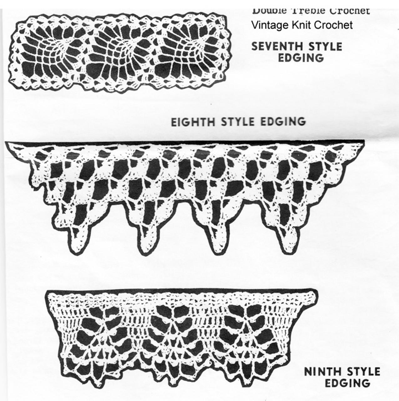 Crochet Lace Edging pattern, Alice Brooks 7101