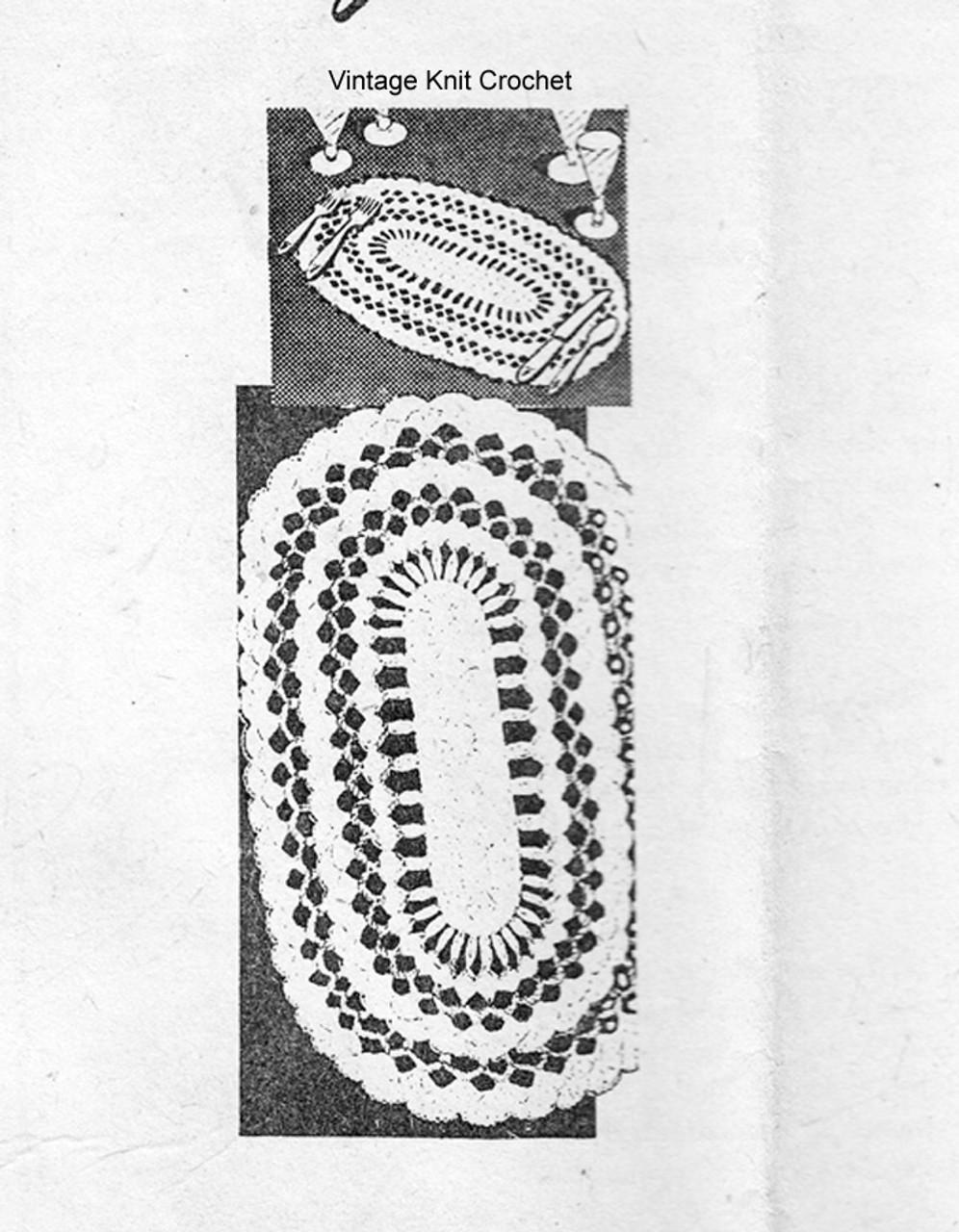 Mail Order Crochet Mats Pattern, Vintage Alice Brooks 7148