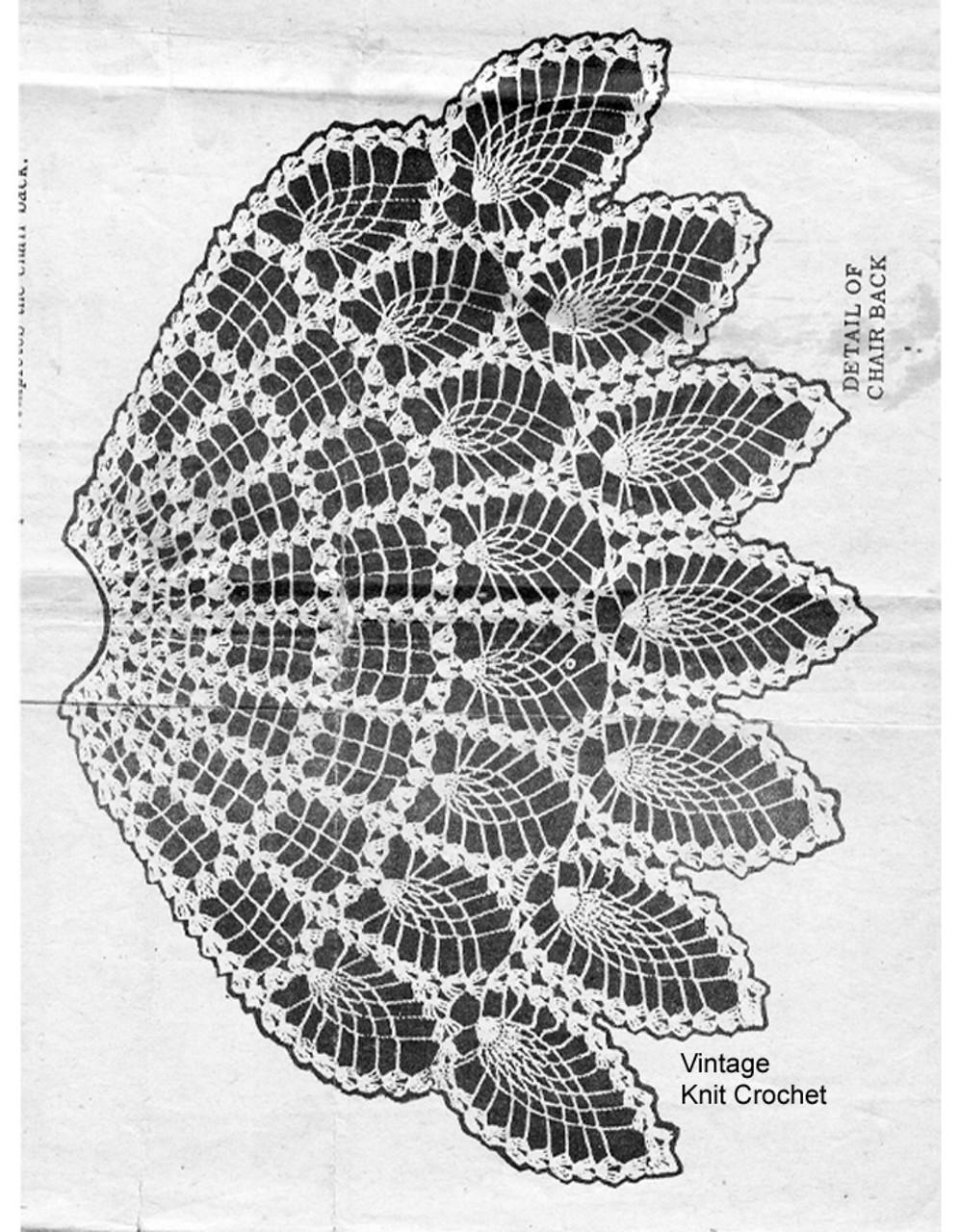 Pineapple Fan Chair Doily Pattern, Alice Brooks 7653.