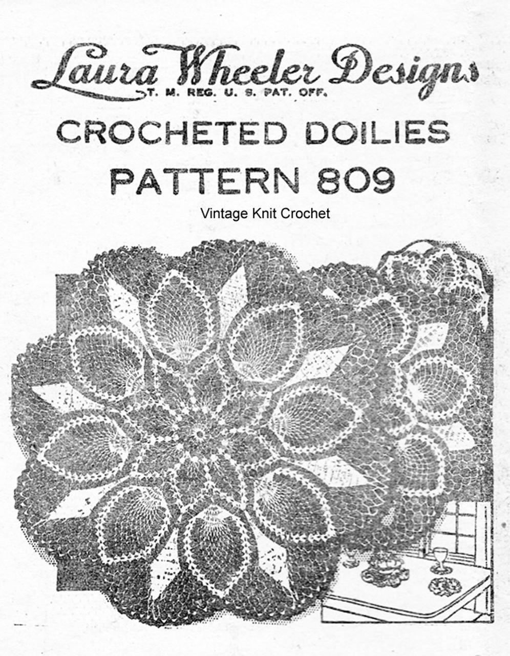 Pineapple Doilies, Small Medium Large, Laura Wheeler 809