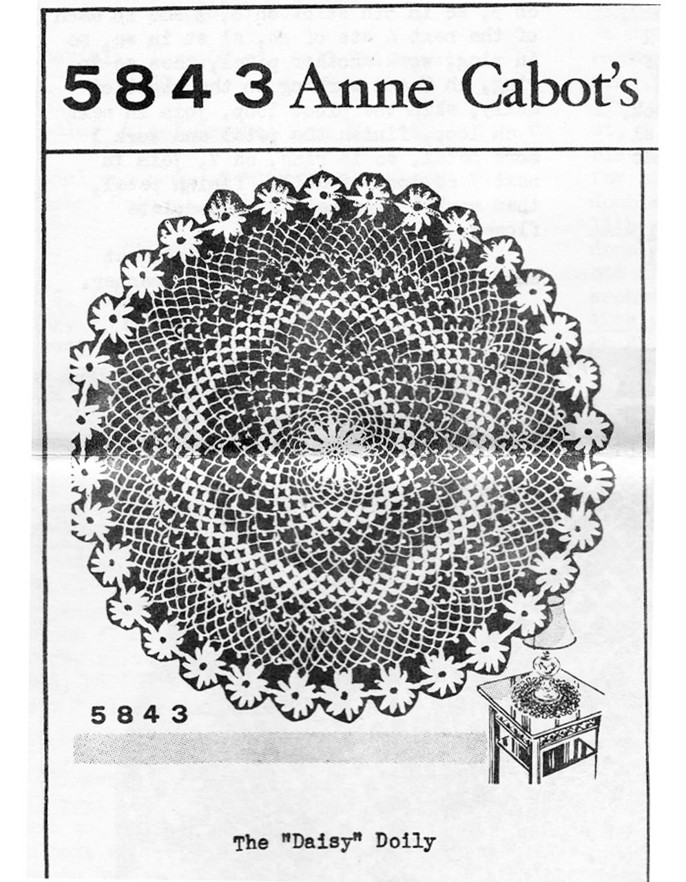 Vintage Doily Pattern, Daisy Border, Anne Cabot 5843