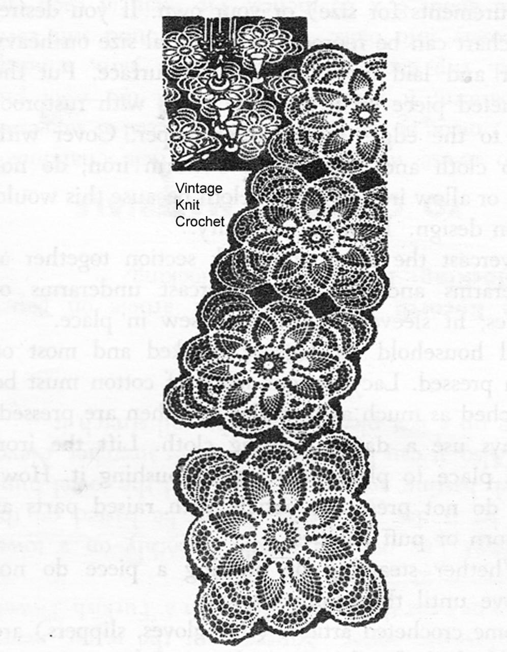 Crochet Pineapple Runner Pattern, Laura Wheeler 530
