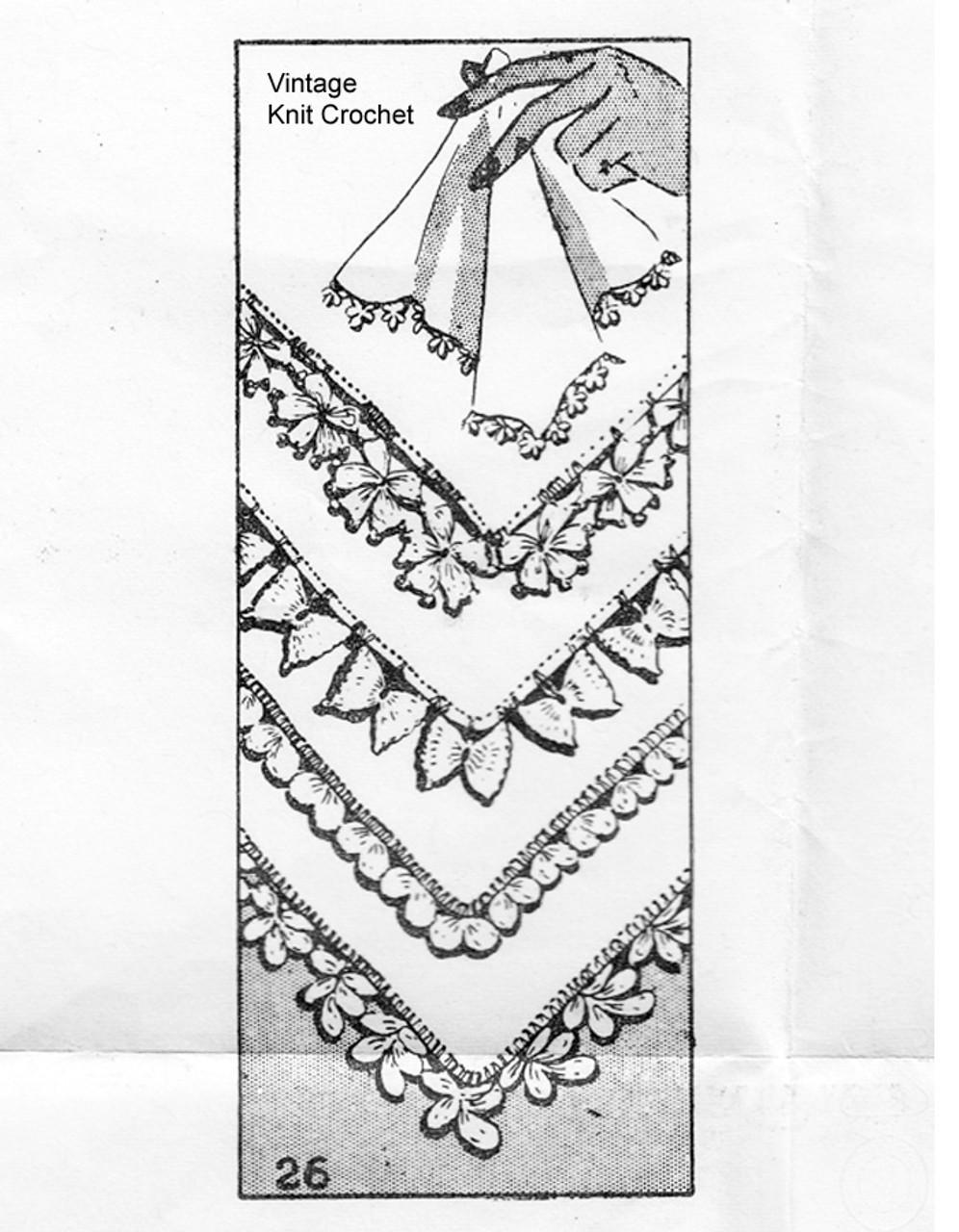 Vintage Handkerchief Edgings Pattern Design 26