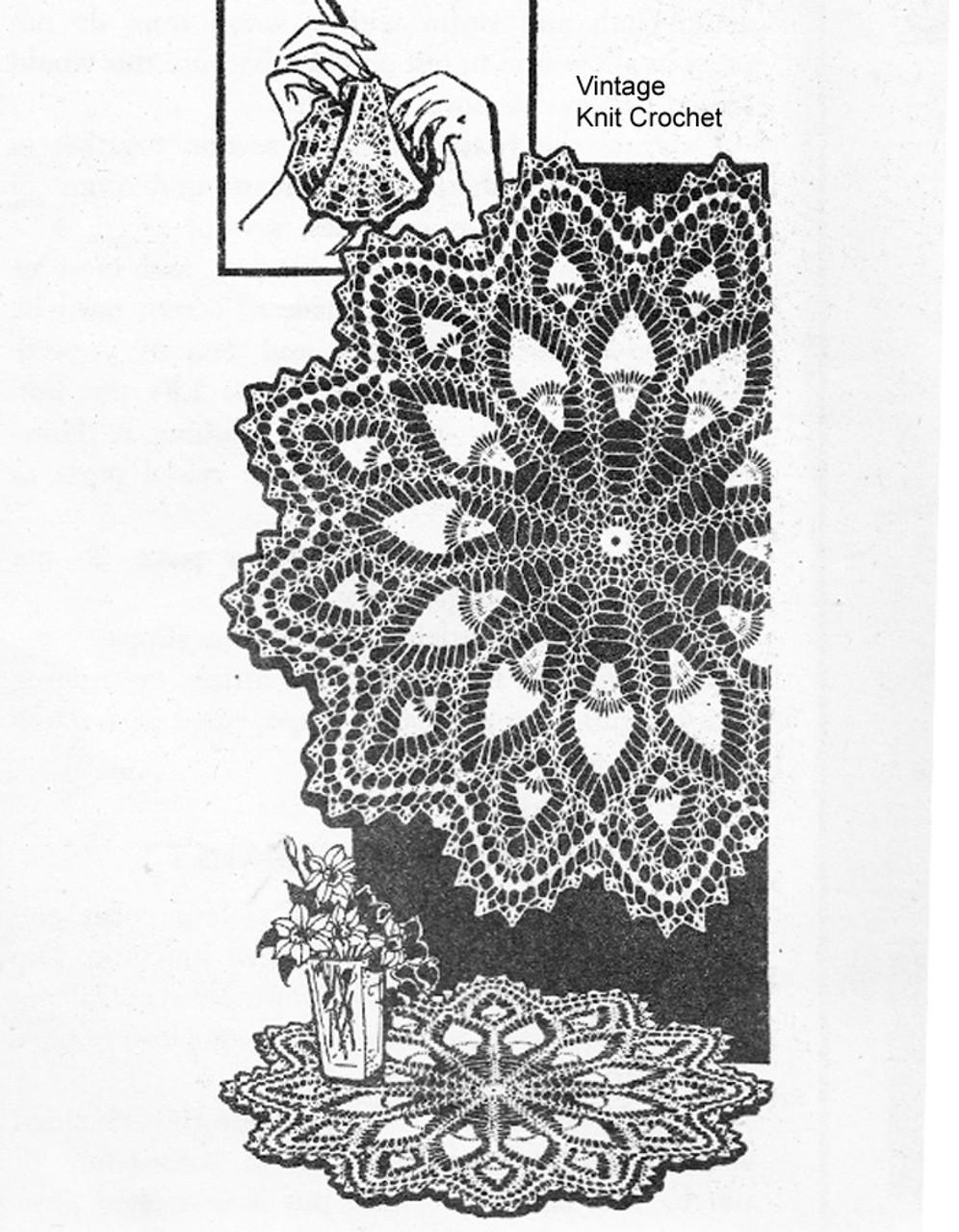 Large Pineapple Wheel Doily Pattern, Laura Wheeler 647