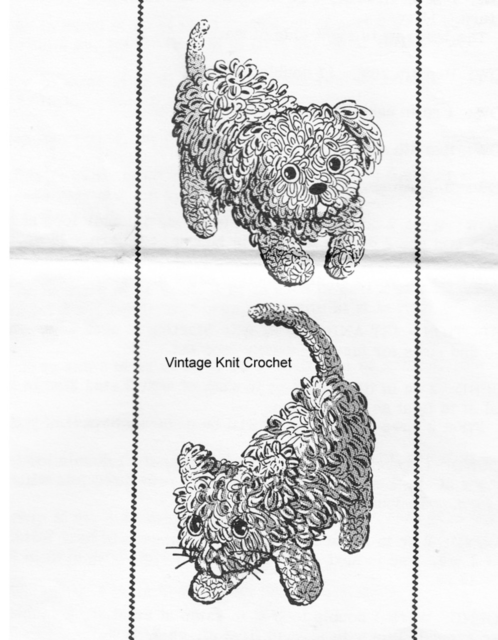 Crochet Loop Stitch Dog Pattern, Laura Wheeler 717